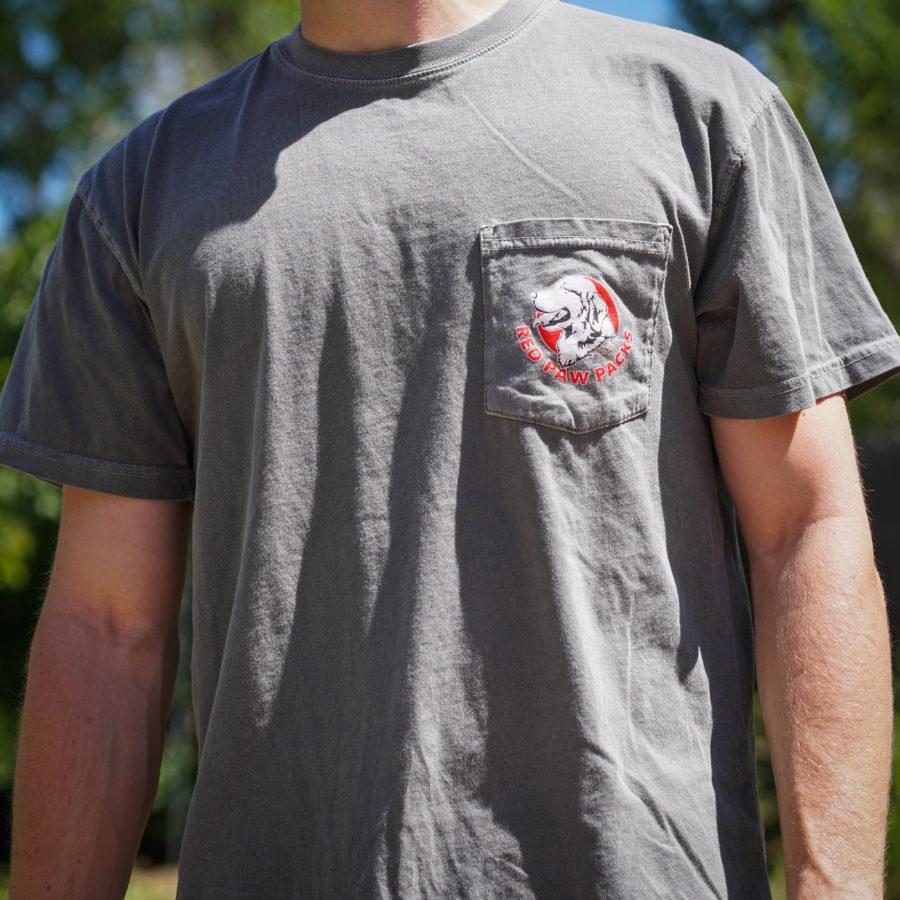 Red Paw Pocket T Shirt